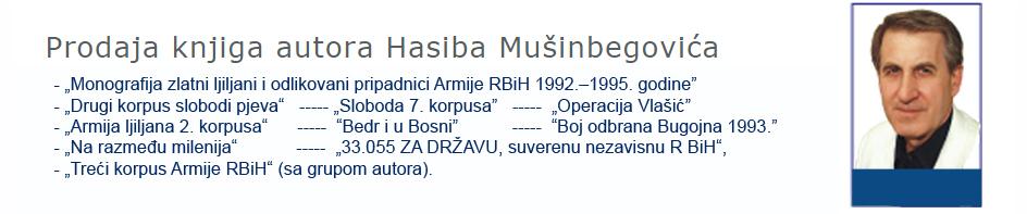 Dobrodošli na web prezentaciju Hasiba Mušinbegovića